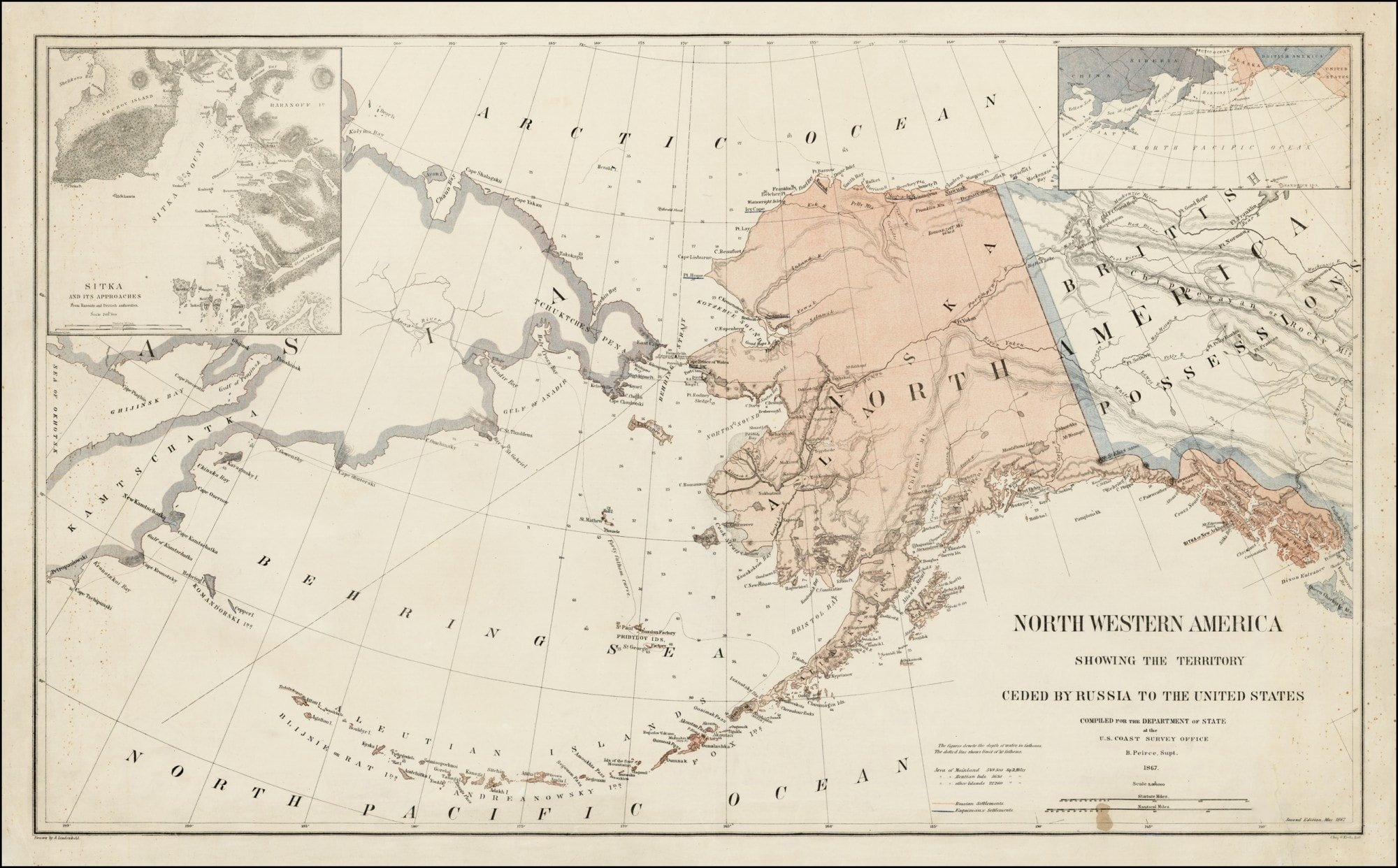 A seminal Alaska map Rare Antique Maps