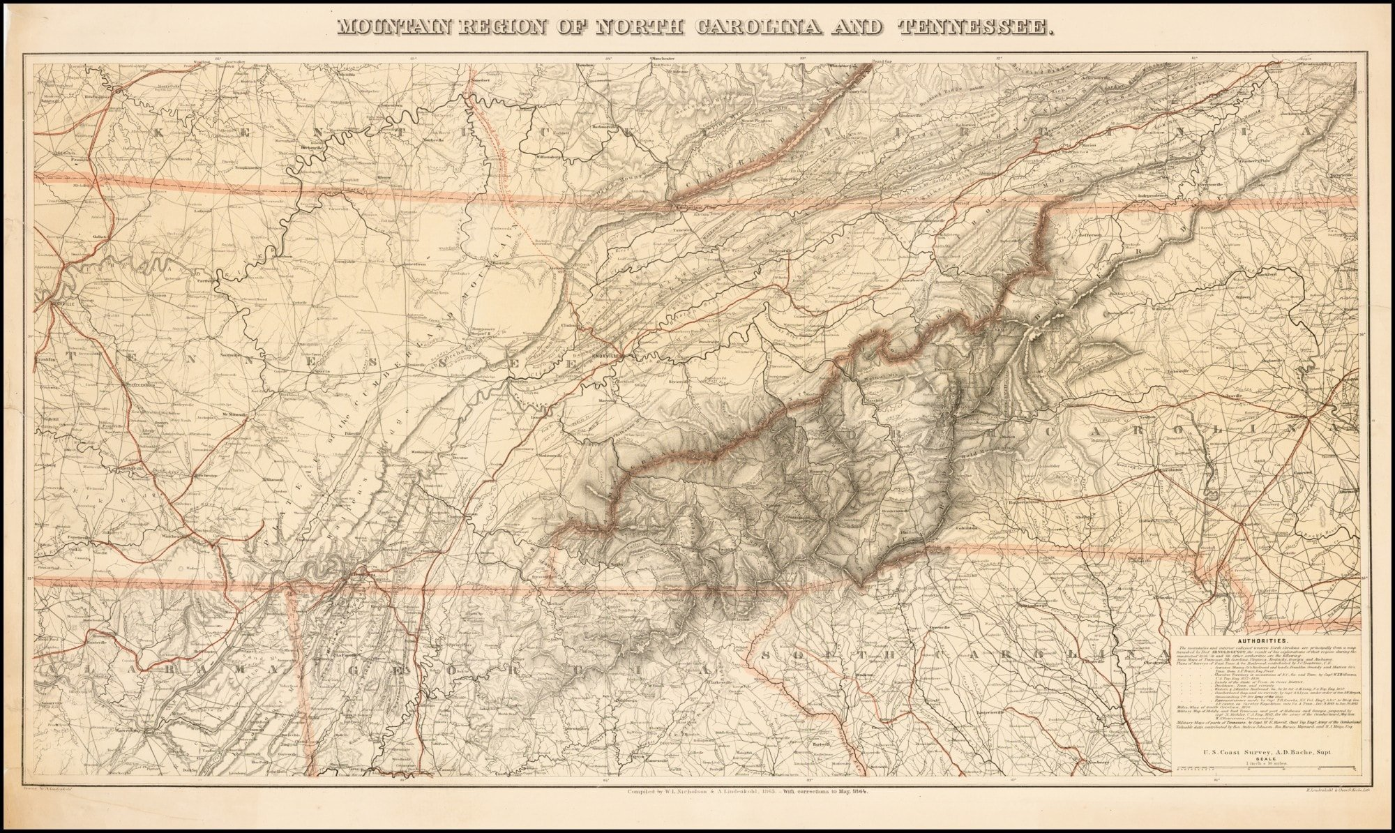 Exceptional Map Of North Carolina And Tennessee Prepared For The