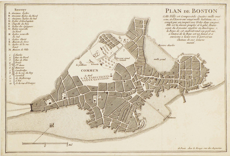 Boston Before The Revolution Rare Antique Maps - Antique boston map