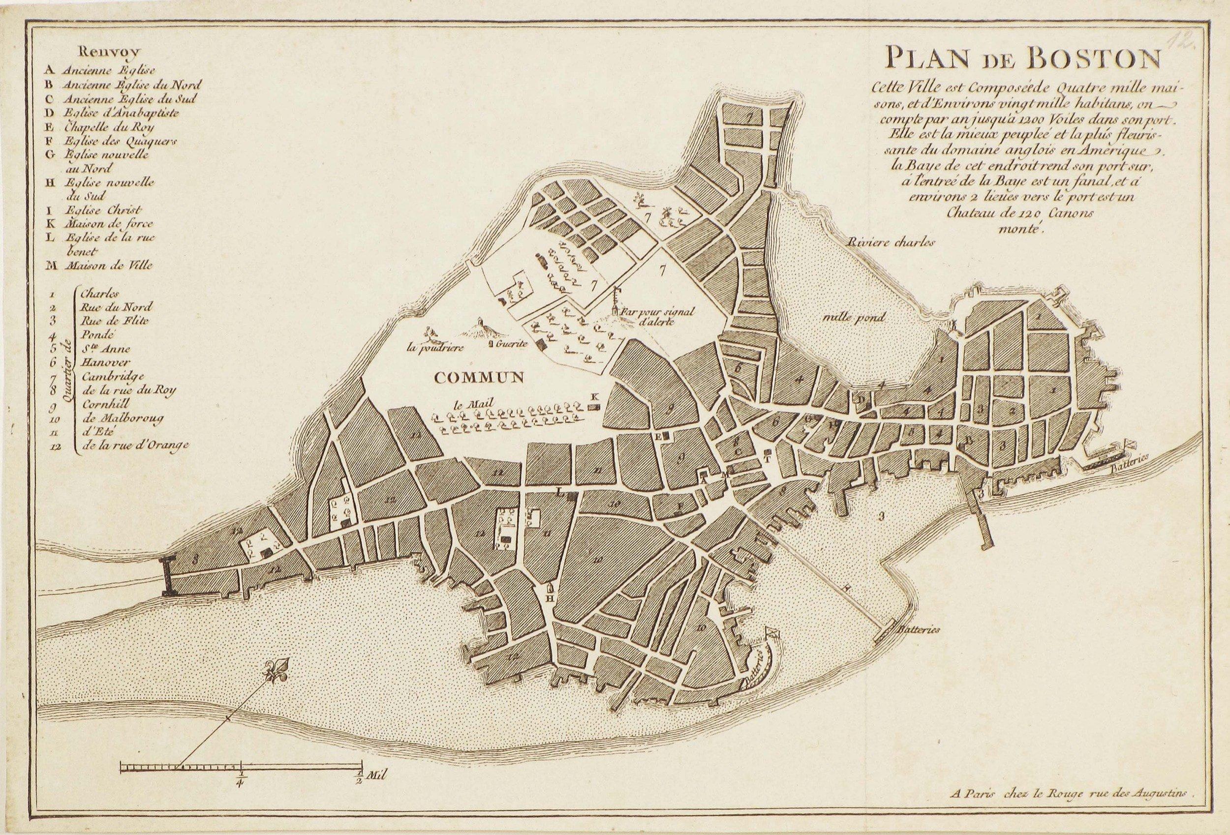 Boston Before The Revolution  Rare Amp Antique Maps