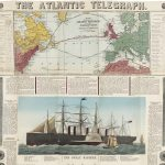 [On broadside:] THE ATLANTIC TELEGRAPH. / [on boards:] BACON'S CHART OF THE ATLANTIC TELEGRAPH… London: Bacon & Co., [Summer 1865?]