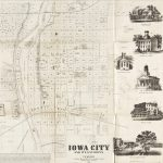 J.H. Millar of the firm Bryan & Millar, Panora, Guthrie Co., Iowa (mapmaker) / G.H. Yewel (illustrator) / Cook, Sargent & Downey (publishers) / W. Schuchman, 3d St. Pittsburgh (lithographer), IOWA CITY AND ITS ENVIRONS. Iowa City: Cook, Sargent & Downey, 1854.