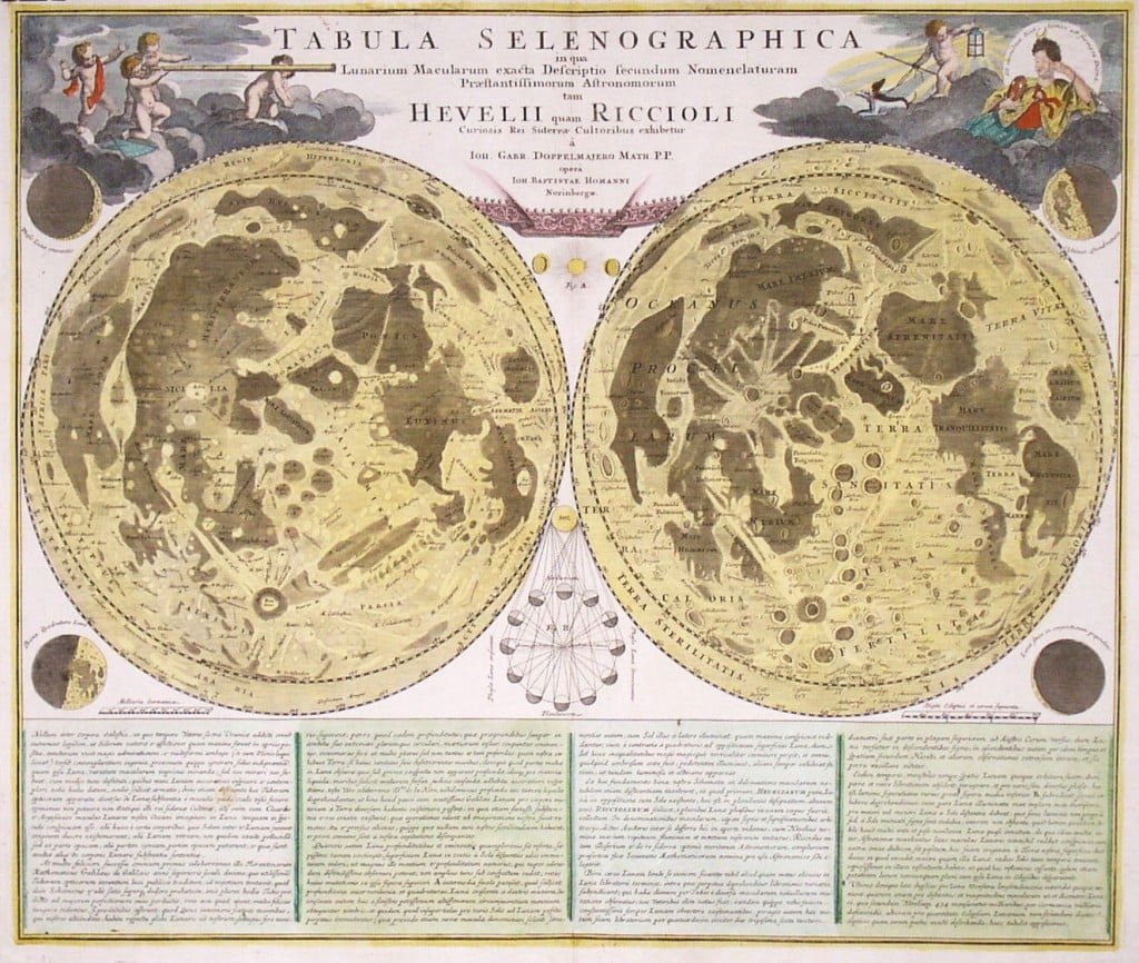 An unusual and decorative lunar map - Rare & Antique Maps on renewable resource maps, teaching maps, nautical maps, basic maps, dungeon magazine maps, beautiful maps, classic maps, religious maps, land survey maps, decorating with globes and maps, cartography maps, elegant maps, googel maps, groundwater maps, simple maps, fill in the blank maps, useful maps, wall maps, arcgis maps,