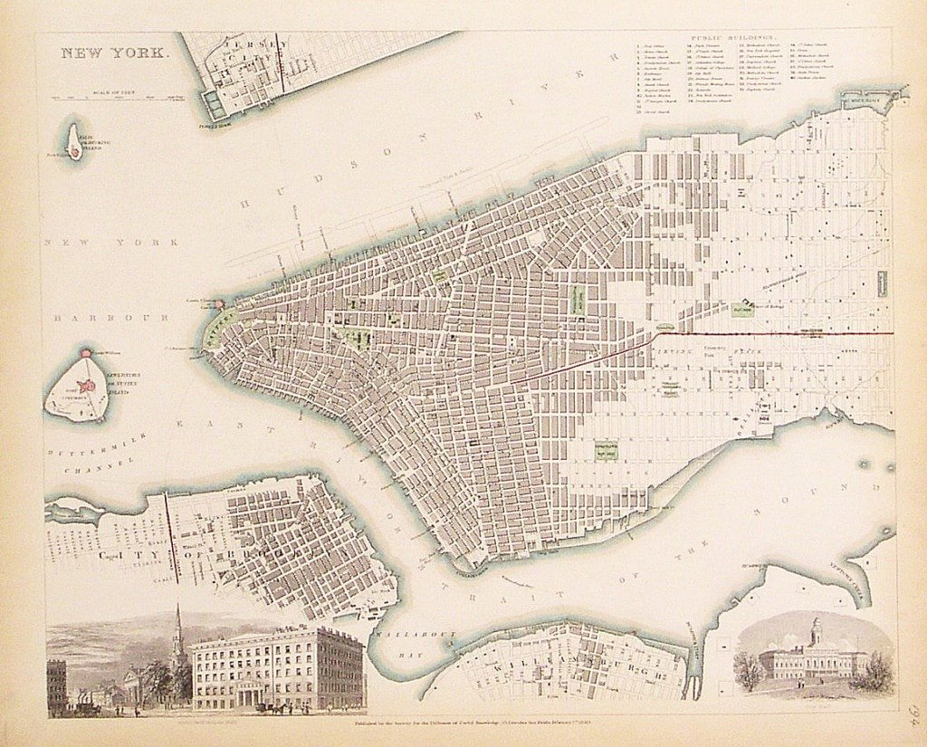 A Detailed Plan Of 19th-century New York City