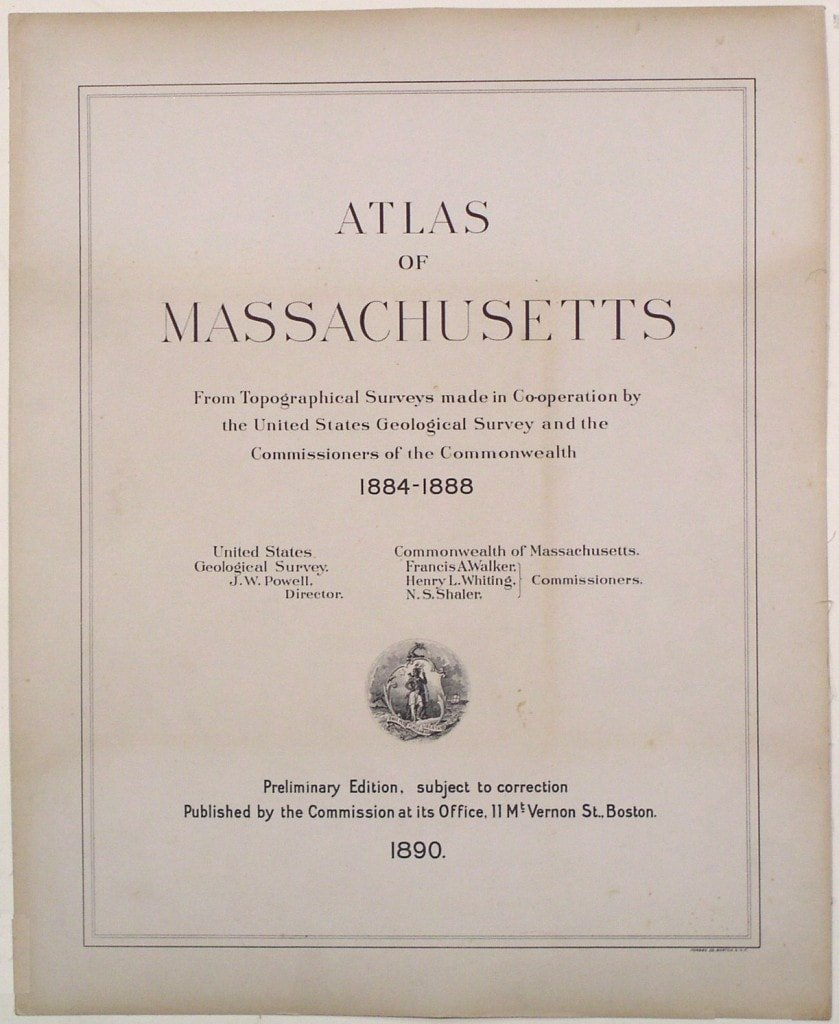 Us Map Certification.The First Topographical Atlas Of A State Rare Antique Maps