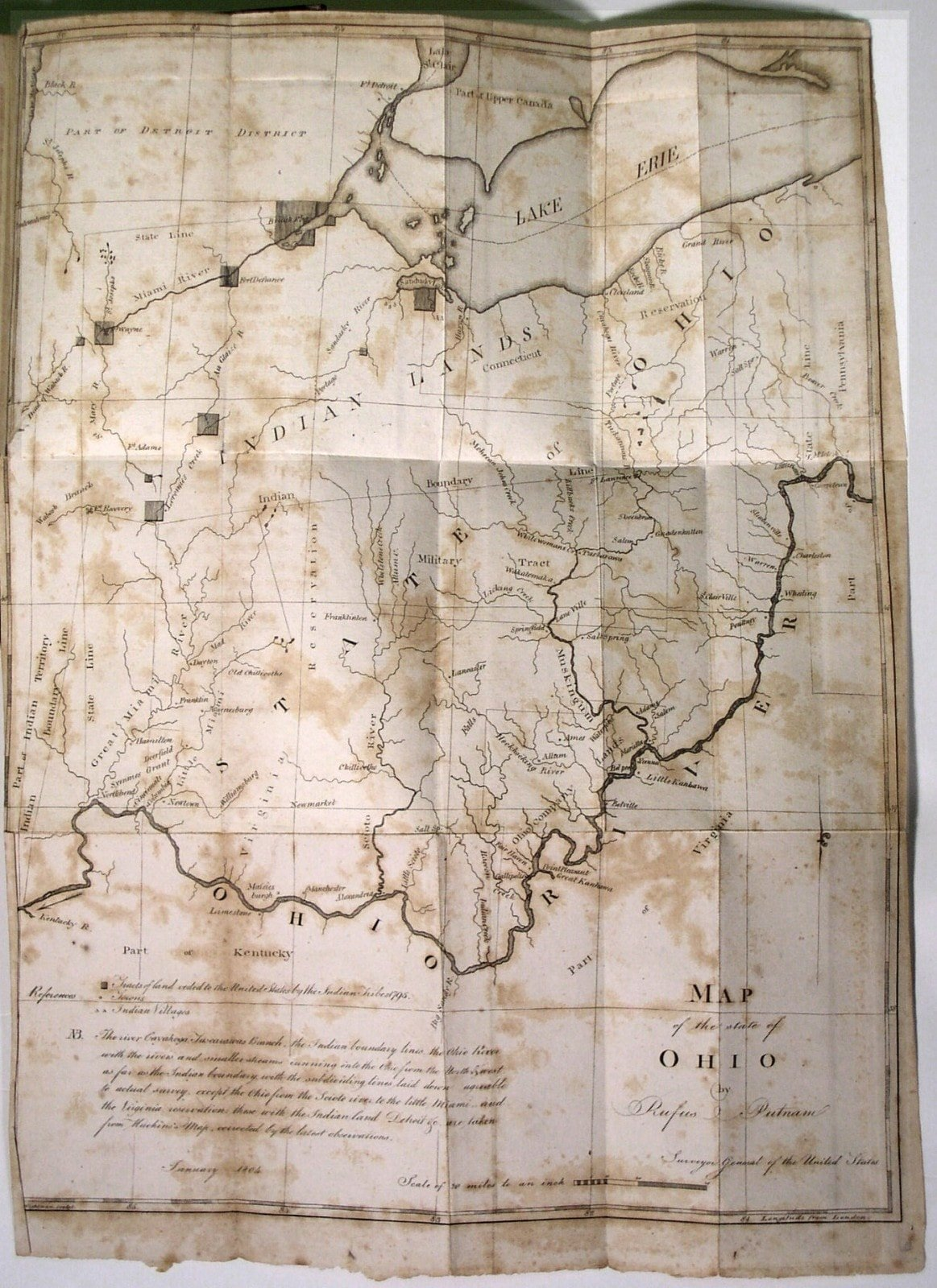 Antique Ohio Map.With A Wonderful Suite Of Early Ohio Maps Rare Antique Maps