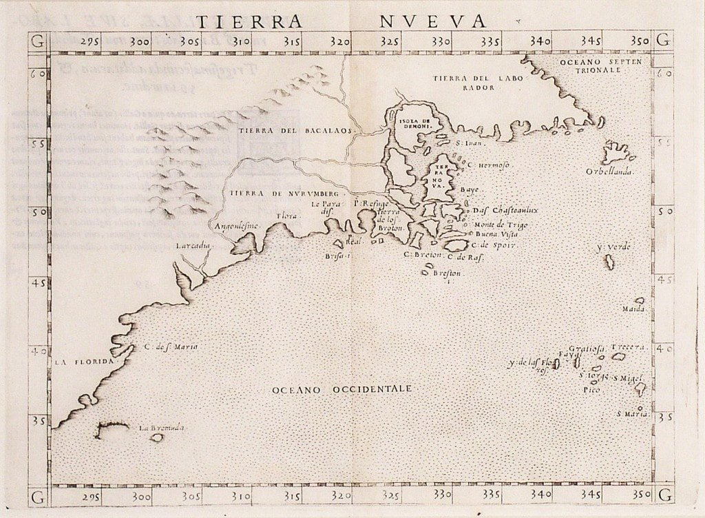 One of the earliest maps of the American East Coast - Rare ...