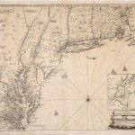 John Thornton, Rob[er]t Morden and Phillip Lea, A NEW MAP OF NEW ENGLAND NEW YORK NEW IARSEY PENSILVANIA MARYLAND AND VIRGINIA. London, ca. 1685.