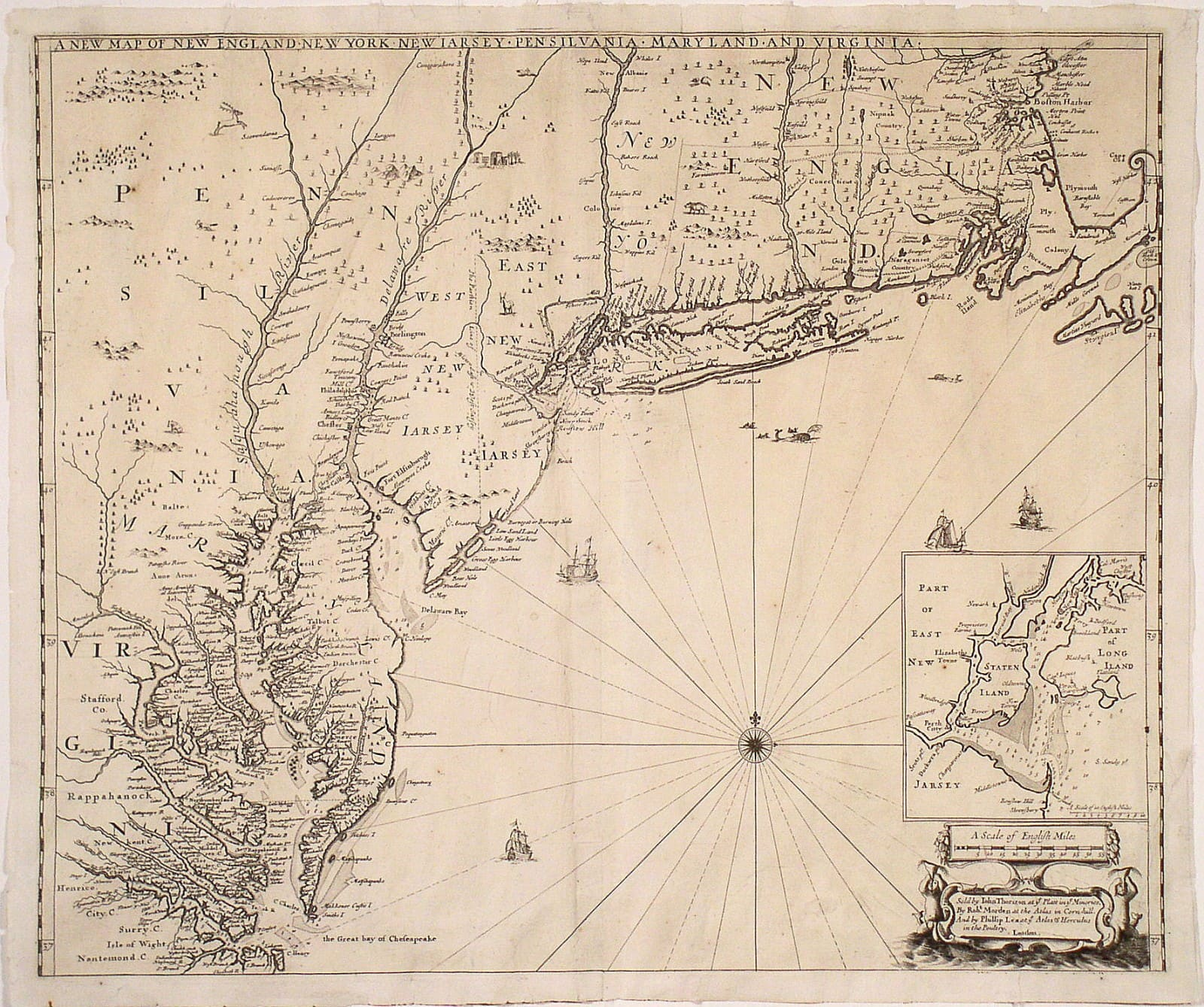 One Of The Finest 17th Century Maps Of The English Empire In America
