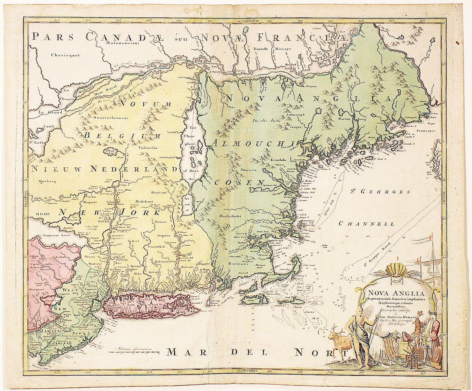 A Most Intriguing And Decorative Map Of New York And New England