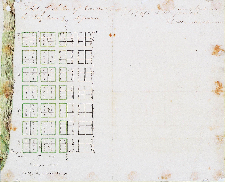 Plat For A Phantom Missouri Town Rare Antique Maps