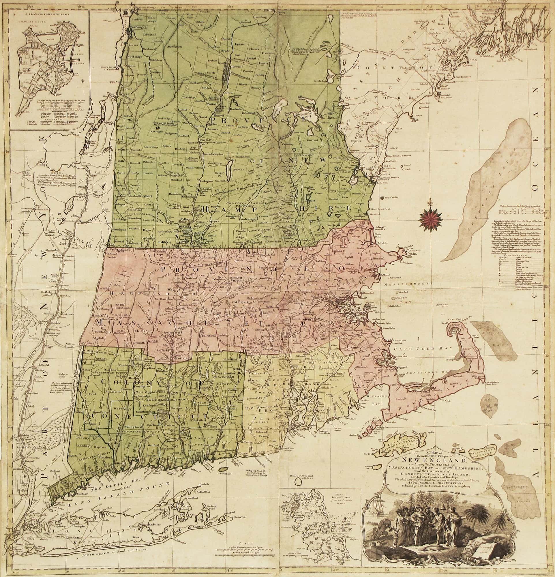 The finest 18th-century map of New England - Rare & Antique Maps