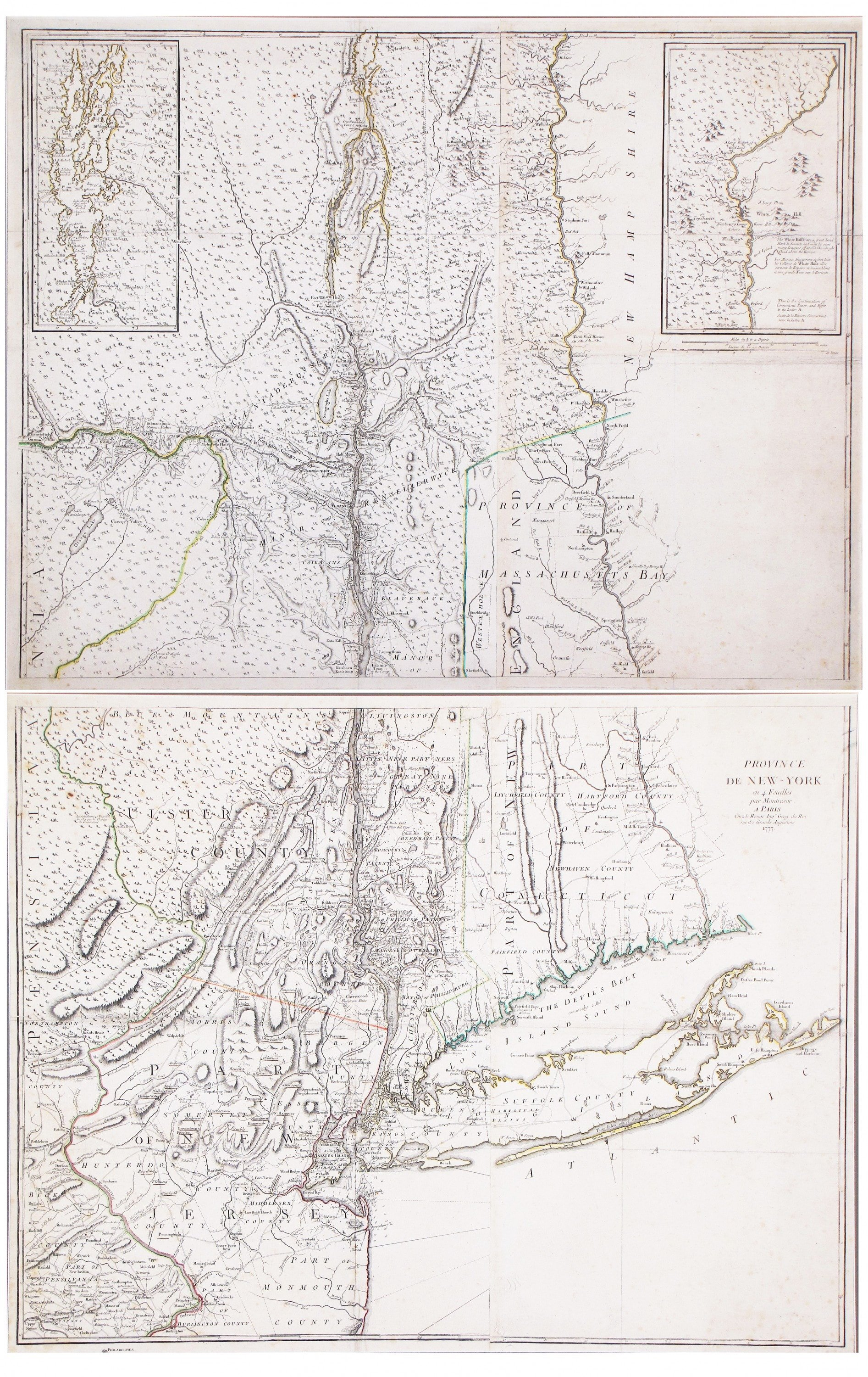 A superb map of colonial new york rare antique maps a superb map of colonial new york thecheapjerseys Gallery