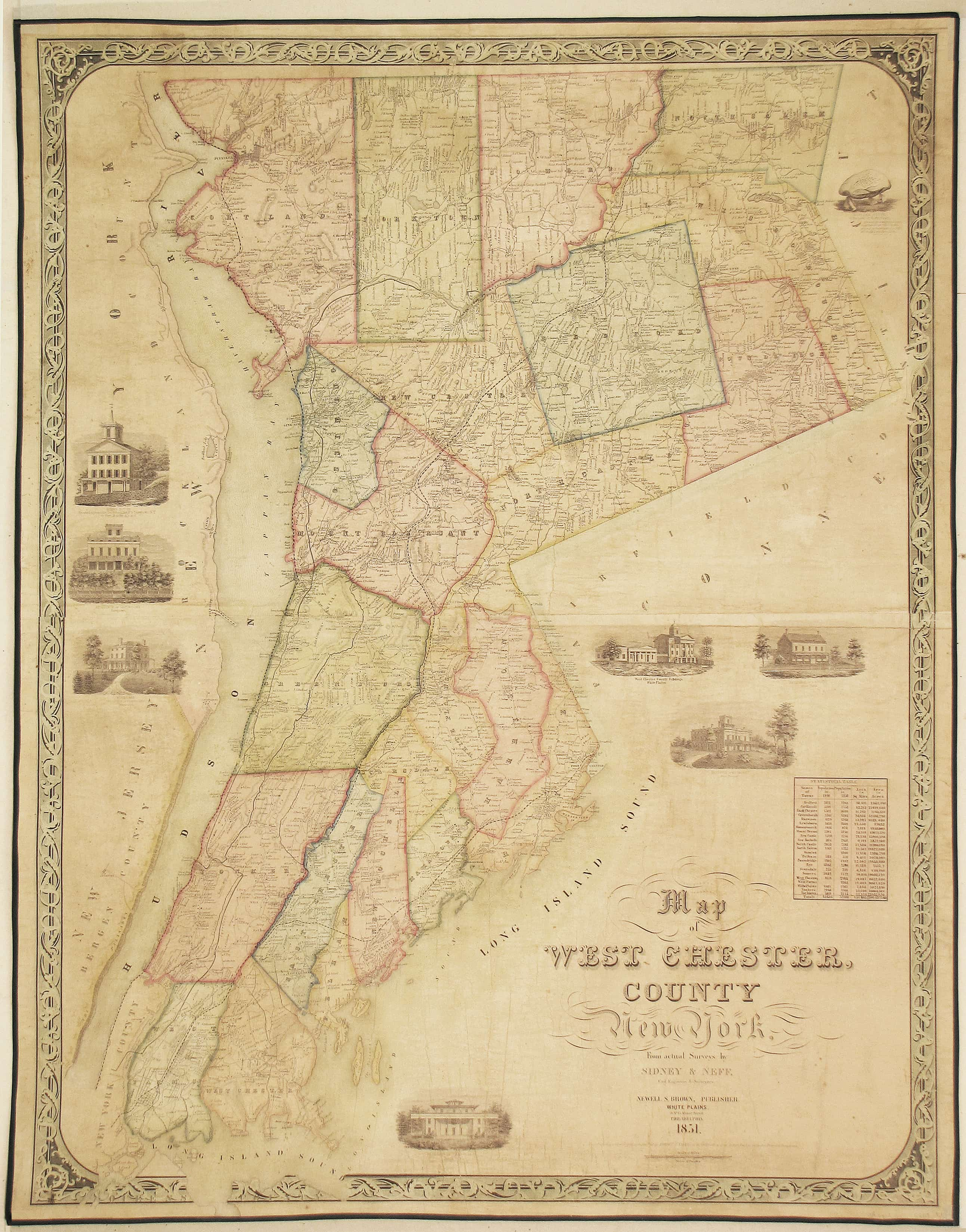 A Rare And Appealing Map Of Westchester County  New York