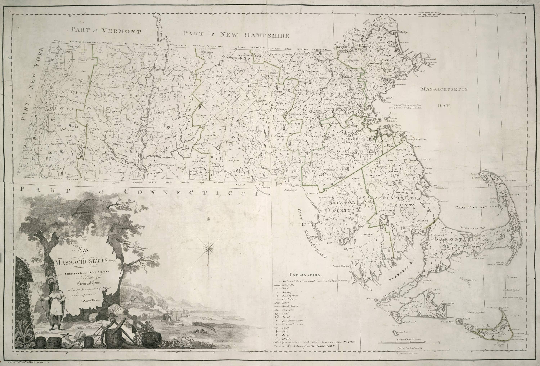 Landmark Osgood Carleton Map Of Massachusetts Rare Antique Maps - Map of massachussets