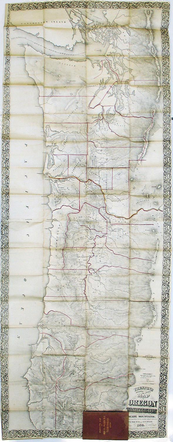 One of the most interesting and well-drawn maps of 1856\