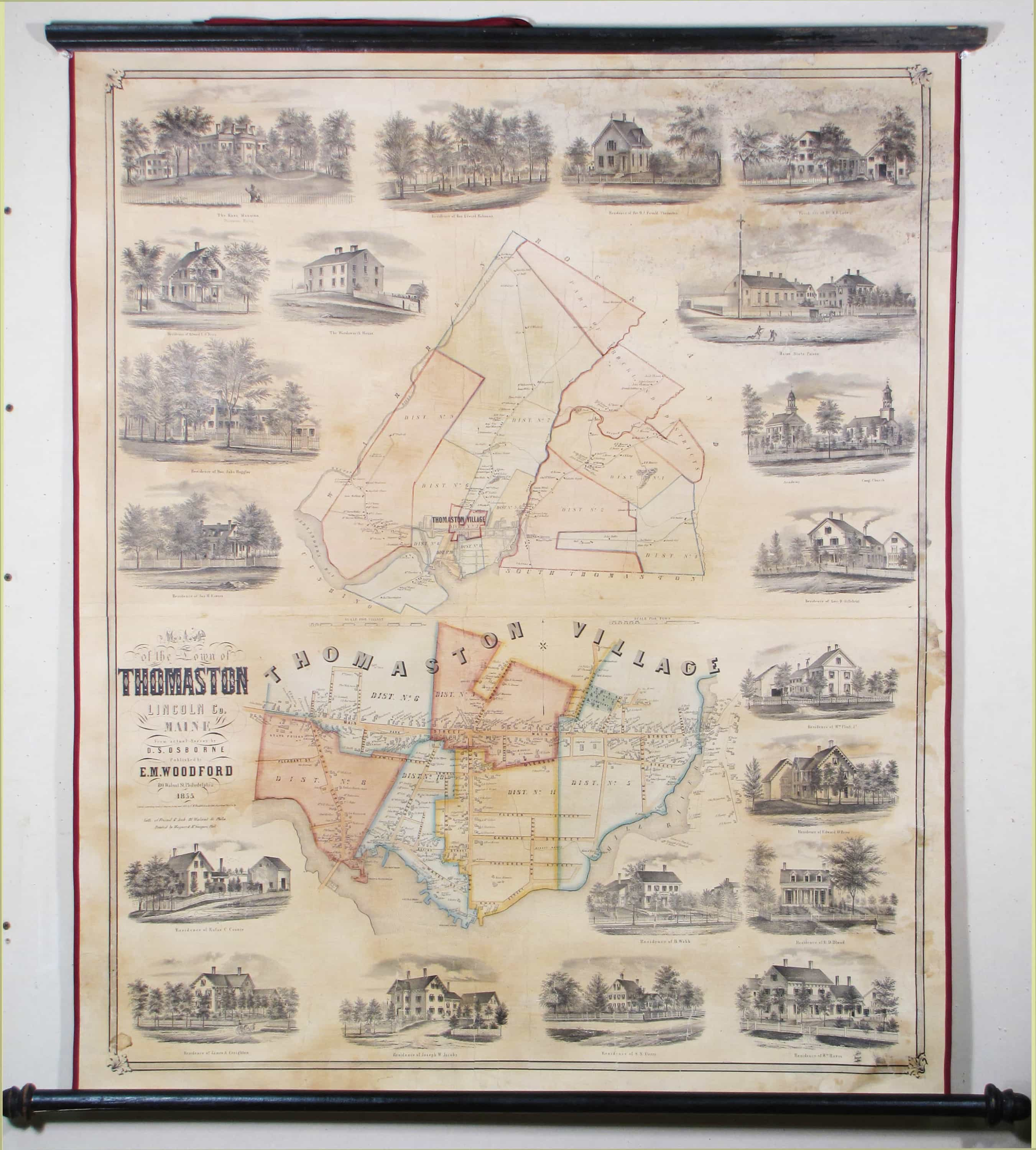A Rare And Lovely Map Of Thomaston Maine Rare Antique Maps - Antique map of maine