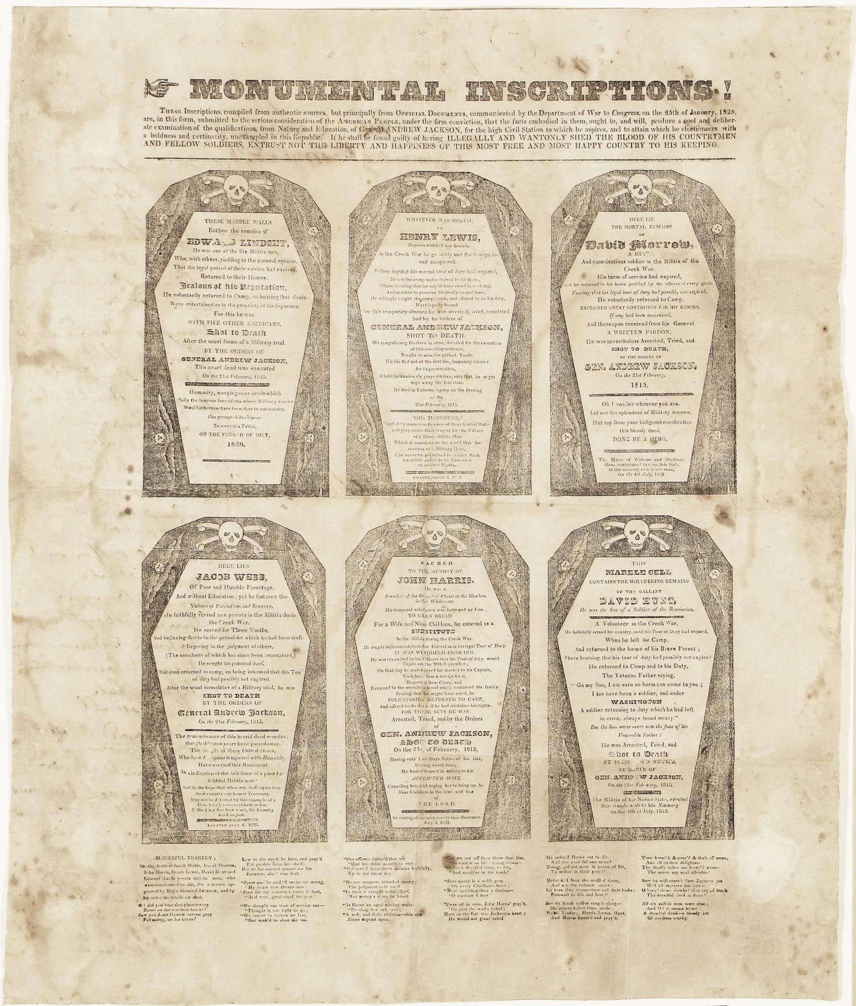 the first coffin handbill
