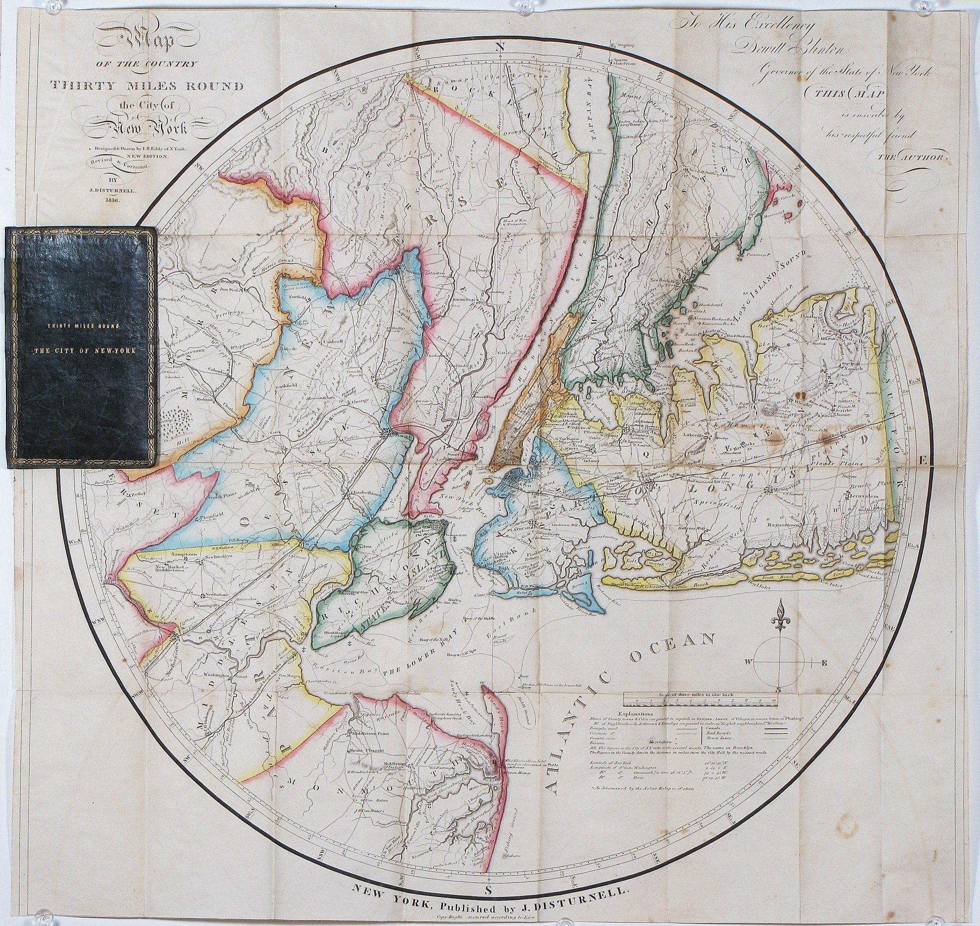 Eddy U0026 39 S  U0026quot Complete  Accurate  And Beautiful U0026quot  Map Of New York  Stokes