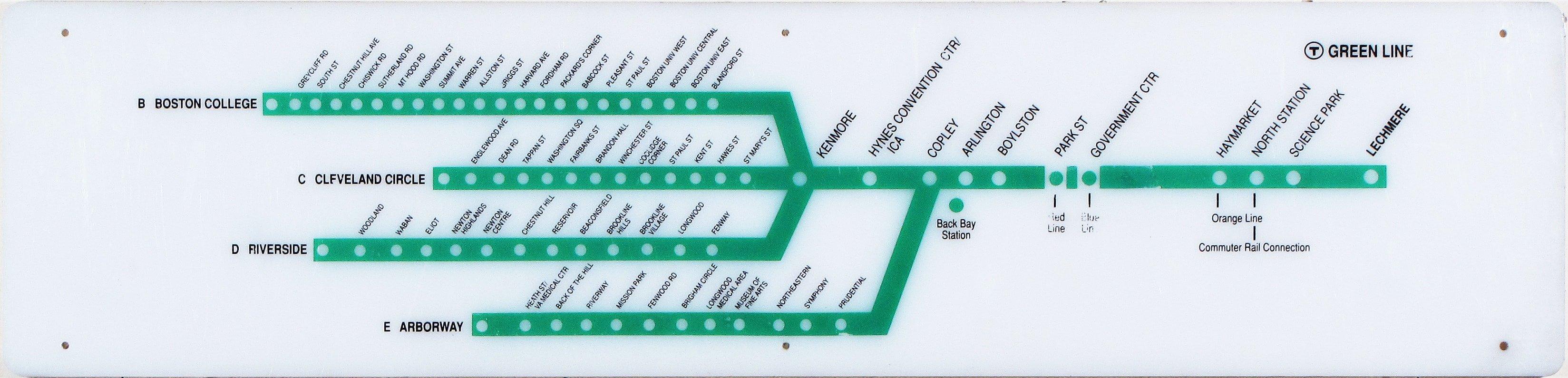 Cartographic Relic From Boston S Green Line Rare Antique Maps