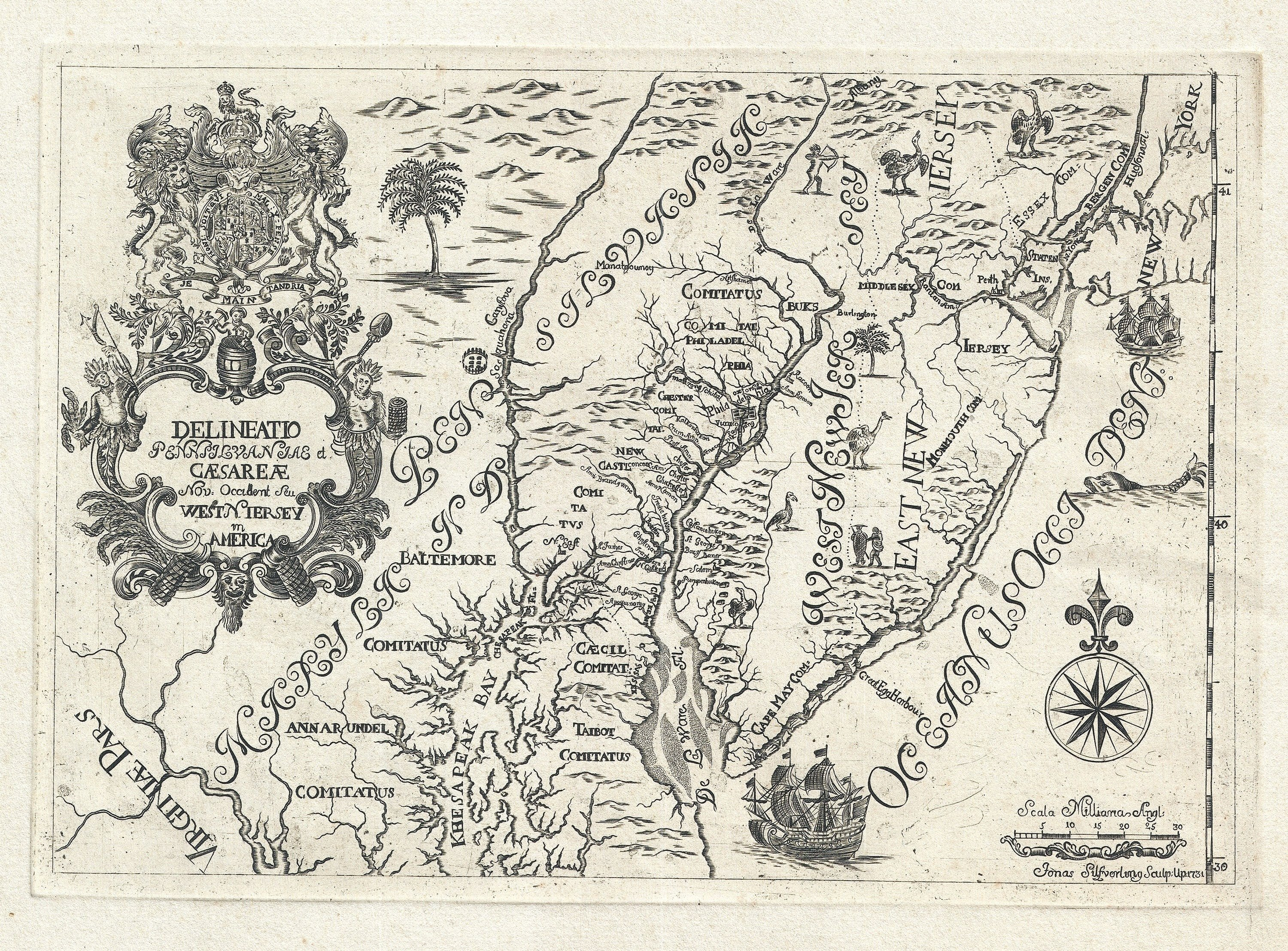 A scarce quirky and decorative map of the mid atlantic rare a scarce quirky and decorative map of the mid atlantic gumiabroncs Images
