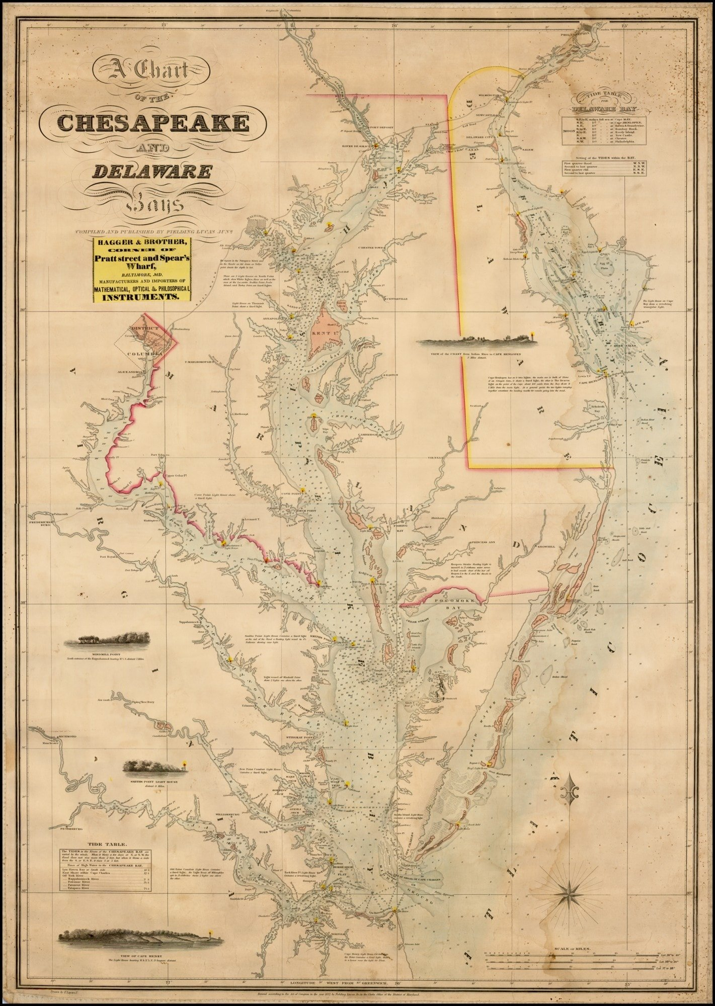 Fielding lucas 1862 chart of chesapeake and delaware bays rare fielding lucas 1862 chart of chesapeake and delaware bays nvjuhfo Gallery