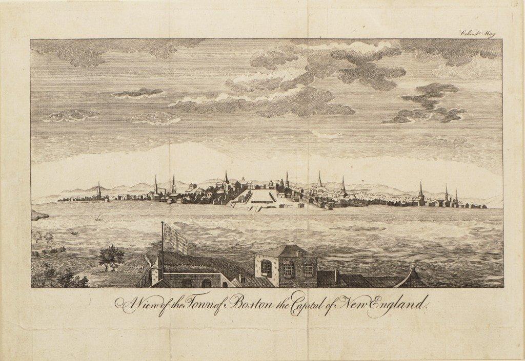 Rare view of 18th-century Boston
