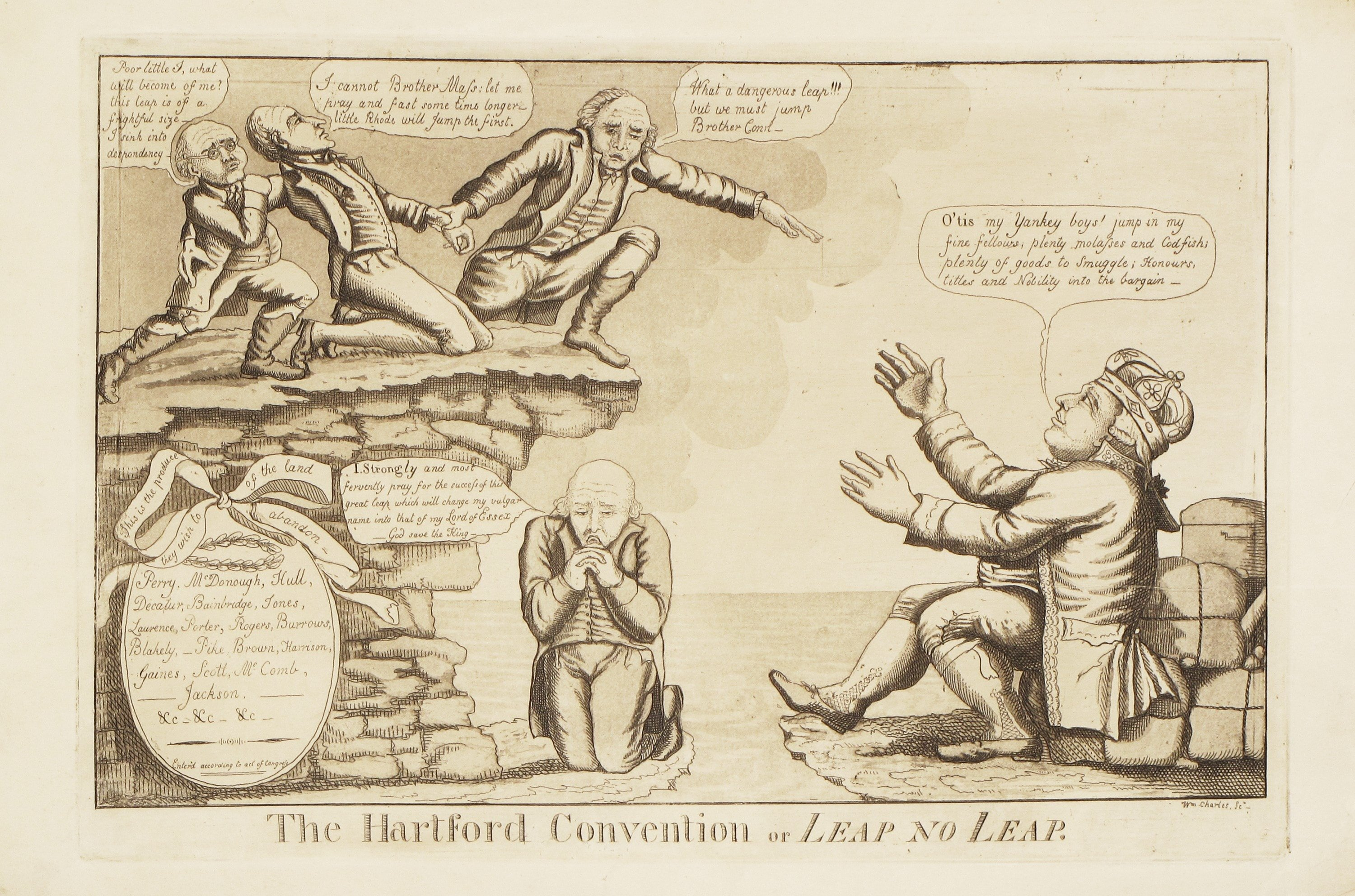 War of 1812 political caricature skewering New England ...