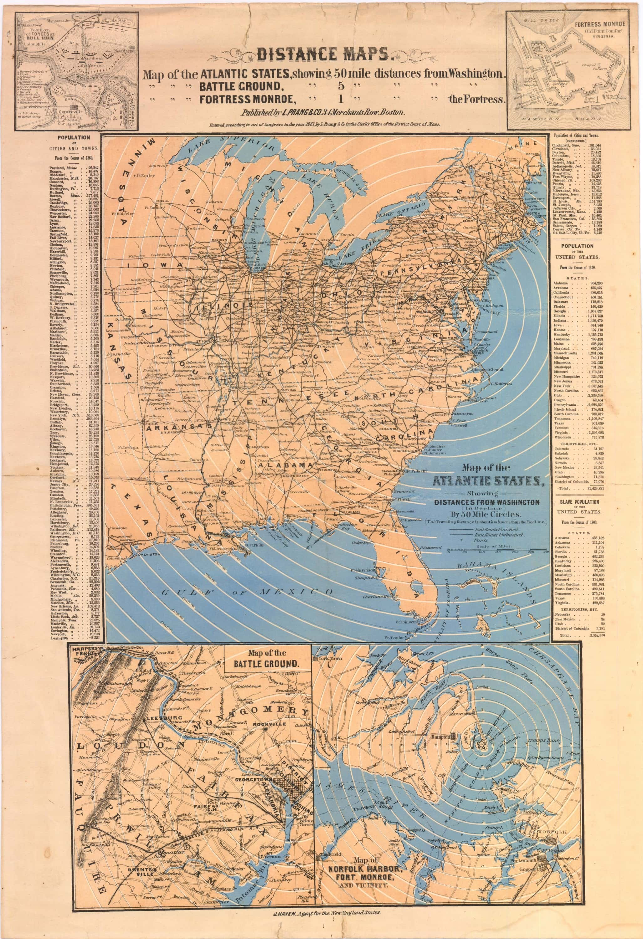 A rarity from the early days of the civil war rare antique maps featured image of this map gumiabroncs Gallery