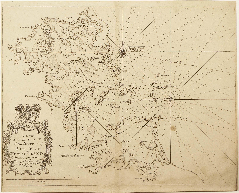 Rare and important chart of boston harbor rare antique maps rare and important chart of boston harbor nvjuhfo Choice Image