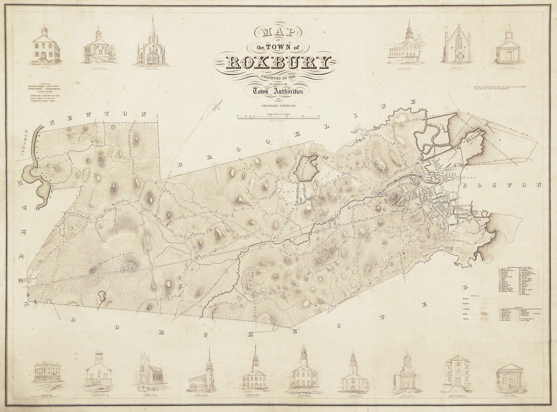 Rare Map Of Roxbury Mass Rare Antique Maps
