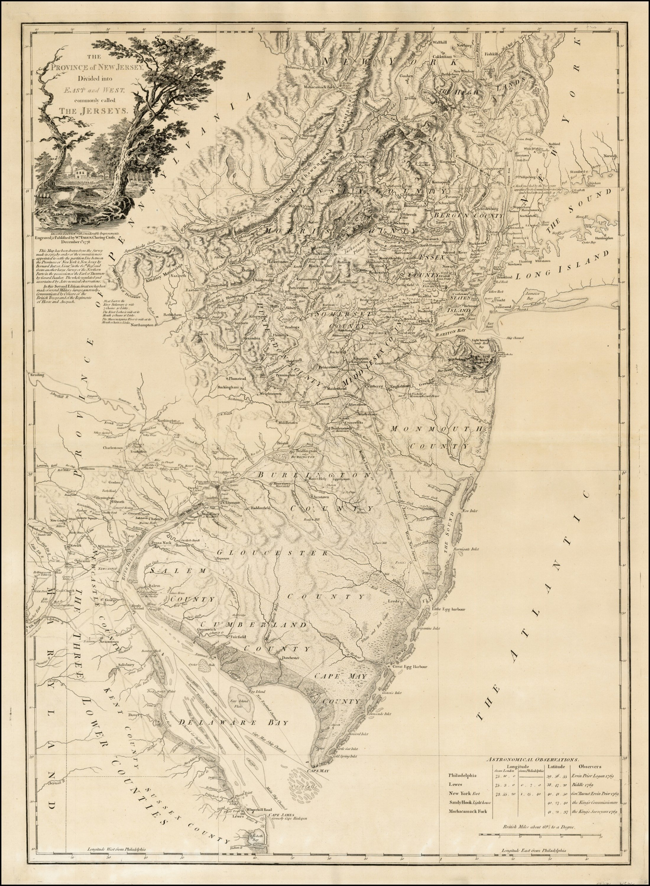 The Finest Thcentury Map Of New Jersey Rare Antique Maps - Maps of new jersey