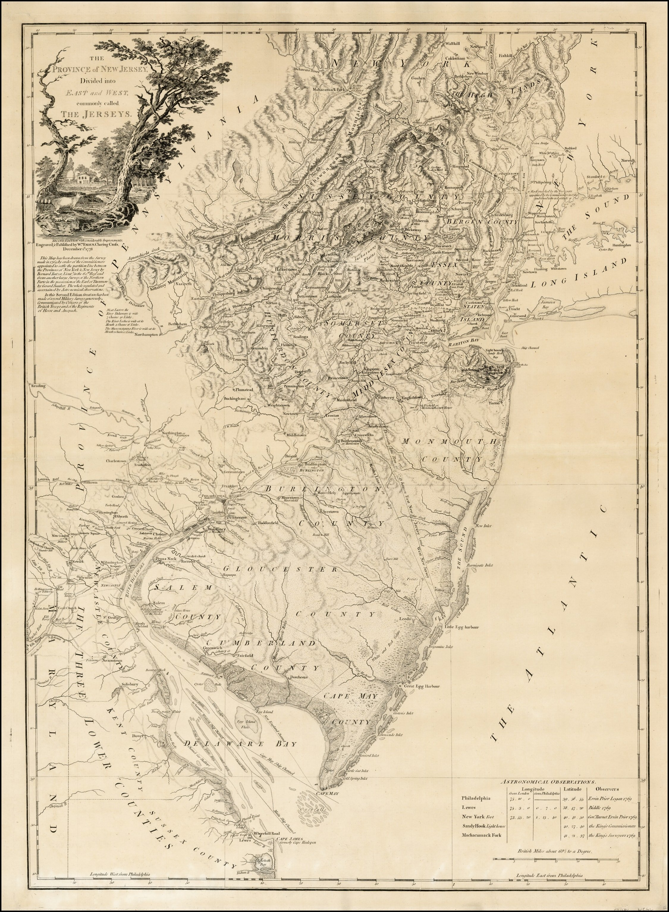 The Finest 18th-century Map Of New Jersey