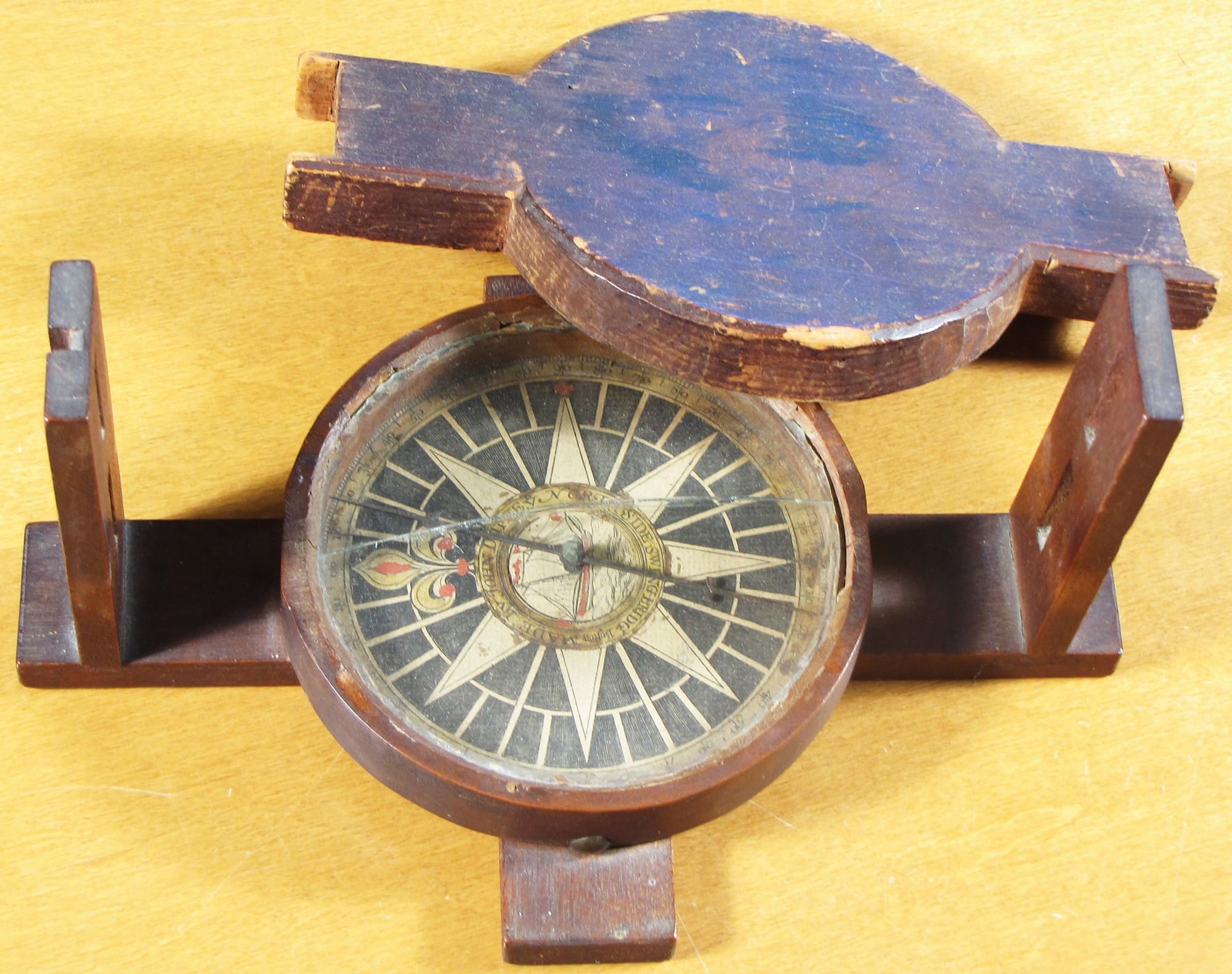 surveyors compass made in colonial boston