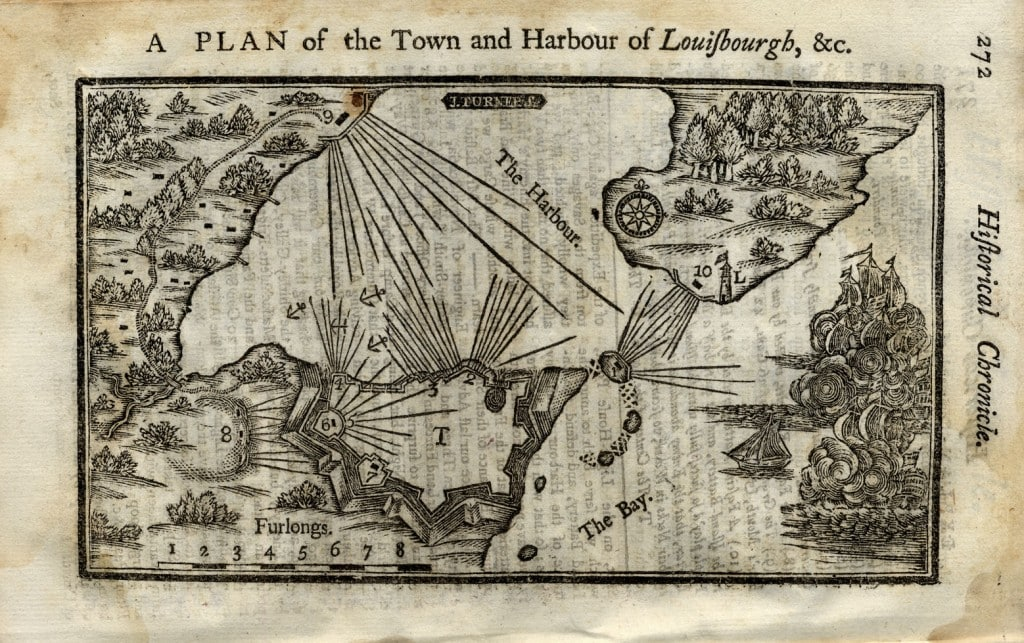 rare american battle plan of the first conquest of louisbourg rare