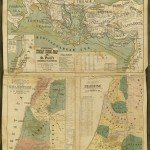 Early manuscript rendering of the Madaba Map of the Holy Land