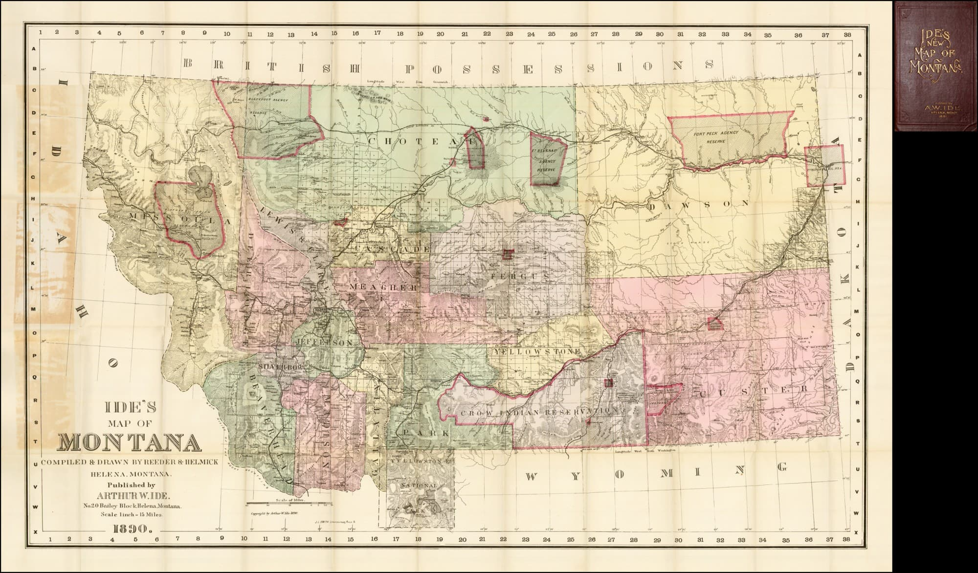 Likely the first map of Montana as a state - Rare & Antique Maps