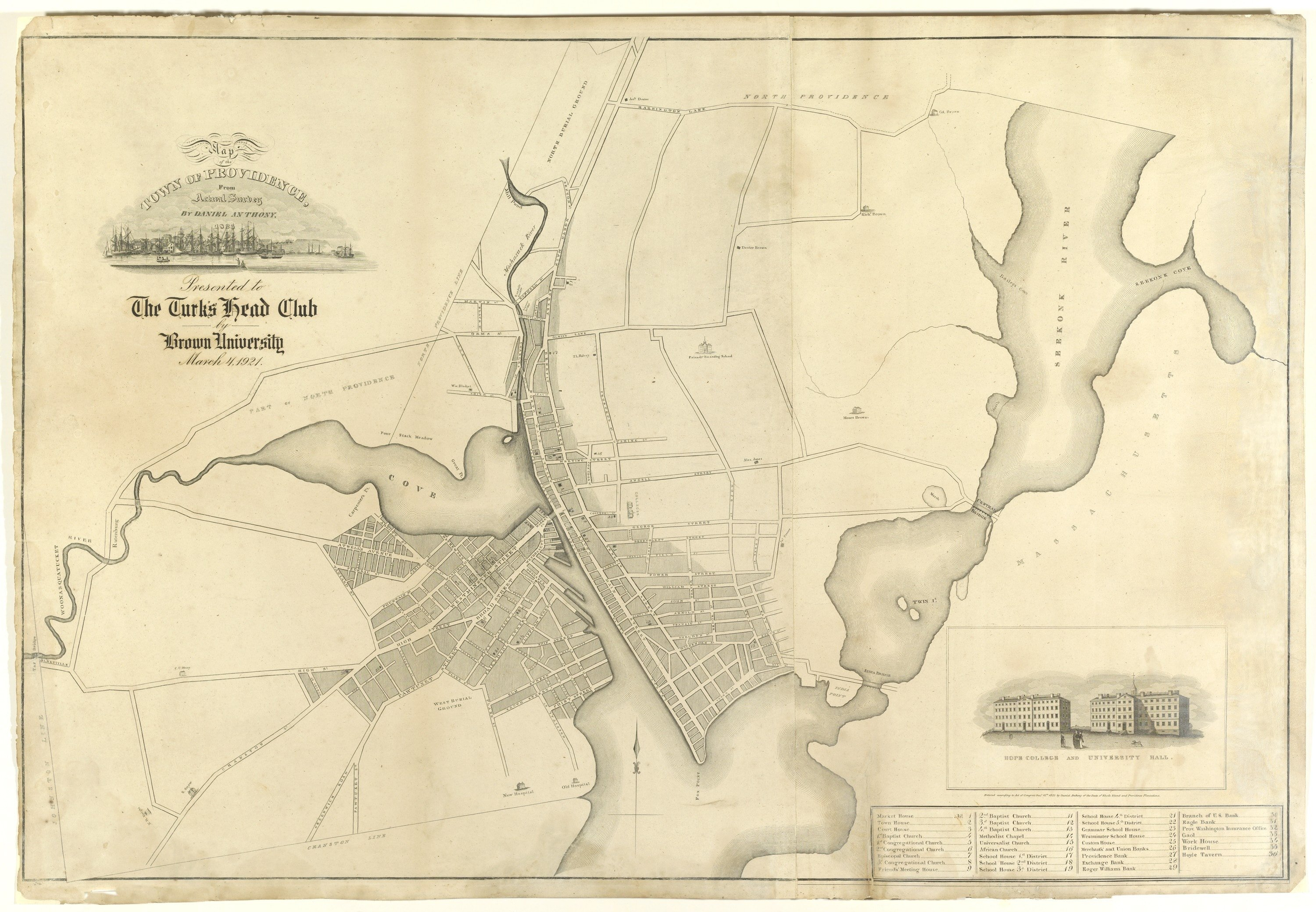 Rare and important plan of Providence, Rhode Island - Rare & Antique ...