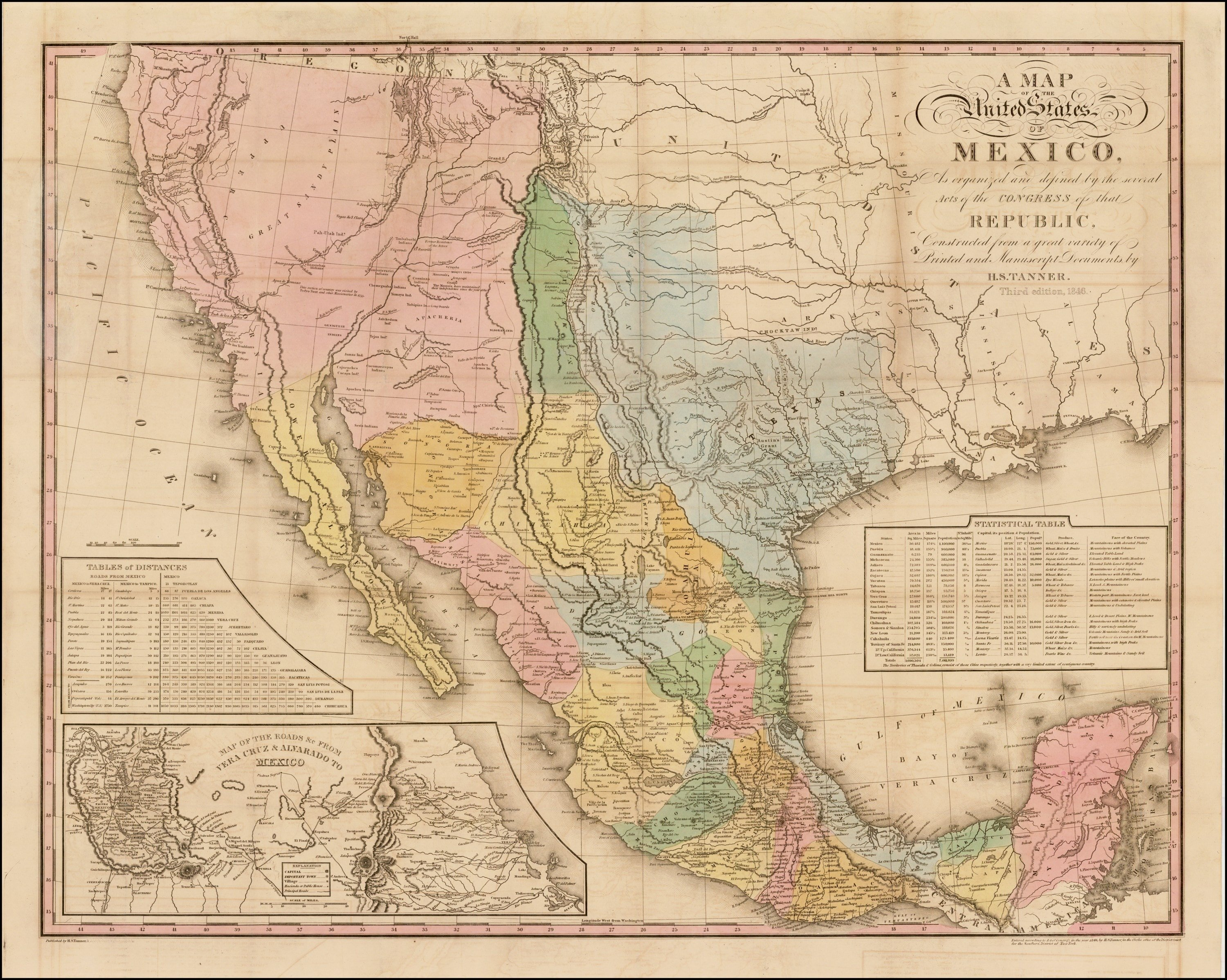tanners map of mexico