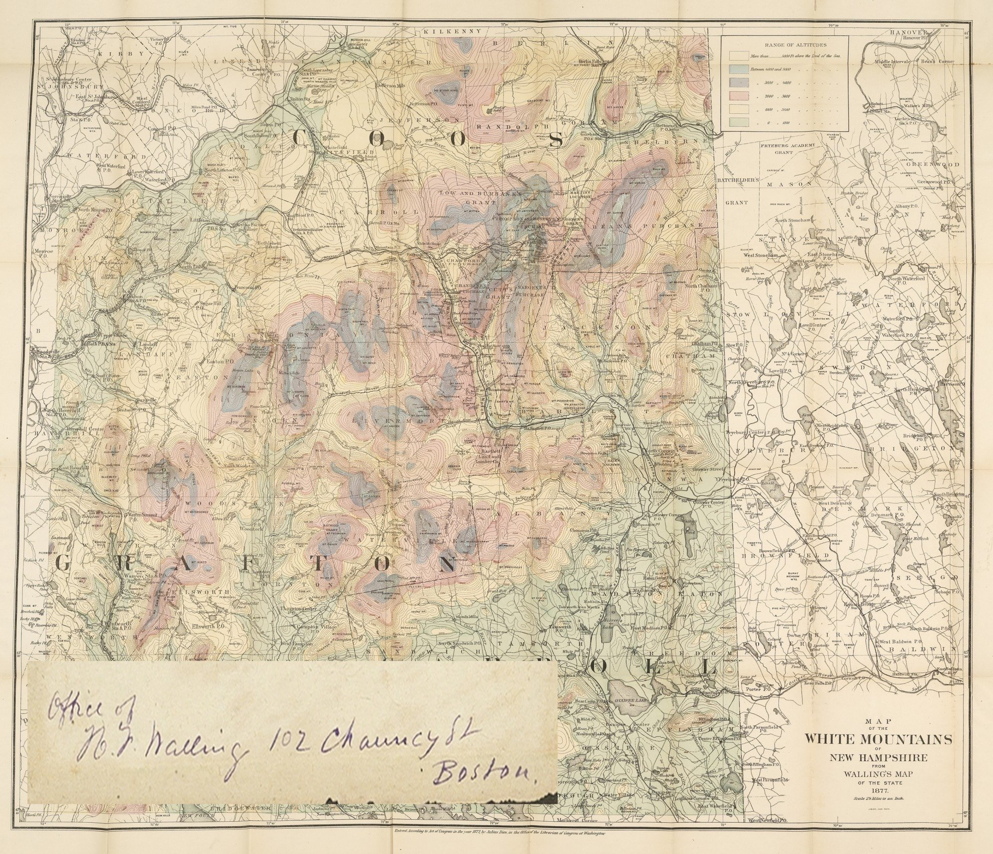 An important White Mountains map, with great provenance ... on map of black hills, map of st. lawrence river, map of colorado river, map of hudson river, map of rocky mountain, map of alps, map of rio grande, map of united states, map of great plains, map of connecticut, map of minnesota, map of great lakes, map of interior plains, map of cascade mountains, map of boston, map of maryland, map of grand canyon, map of tetons, map of shenandoah valley, map of canadian shield,