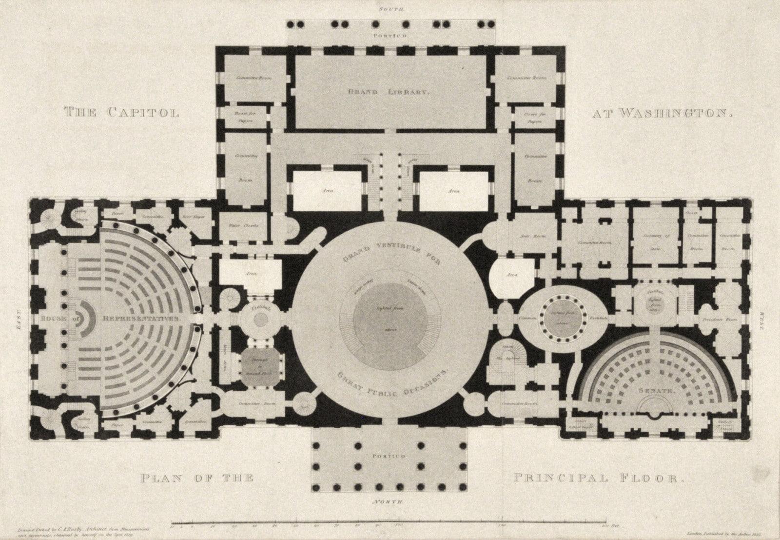 Fine and rare views of the U.S. Capitol - Rare & Antique Maps