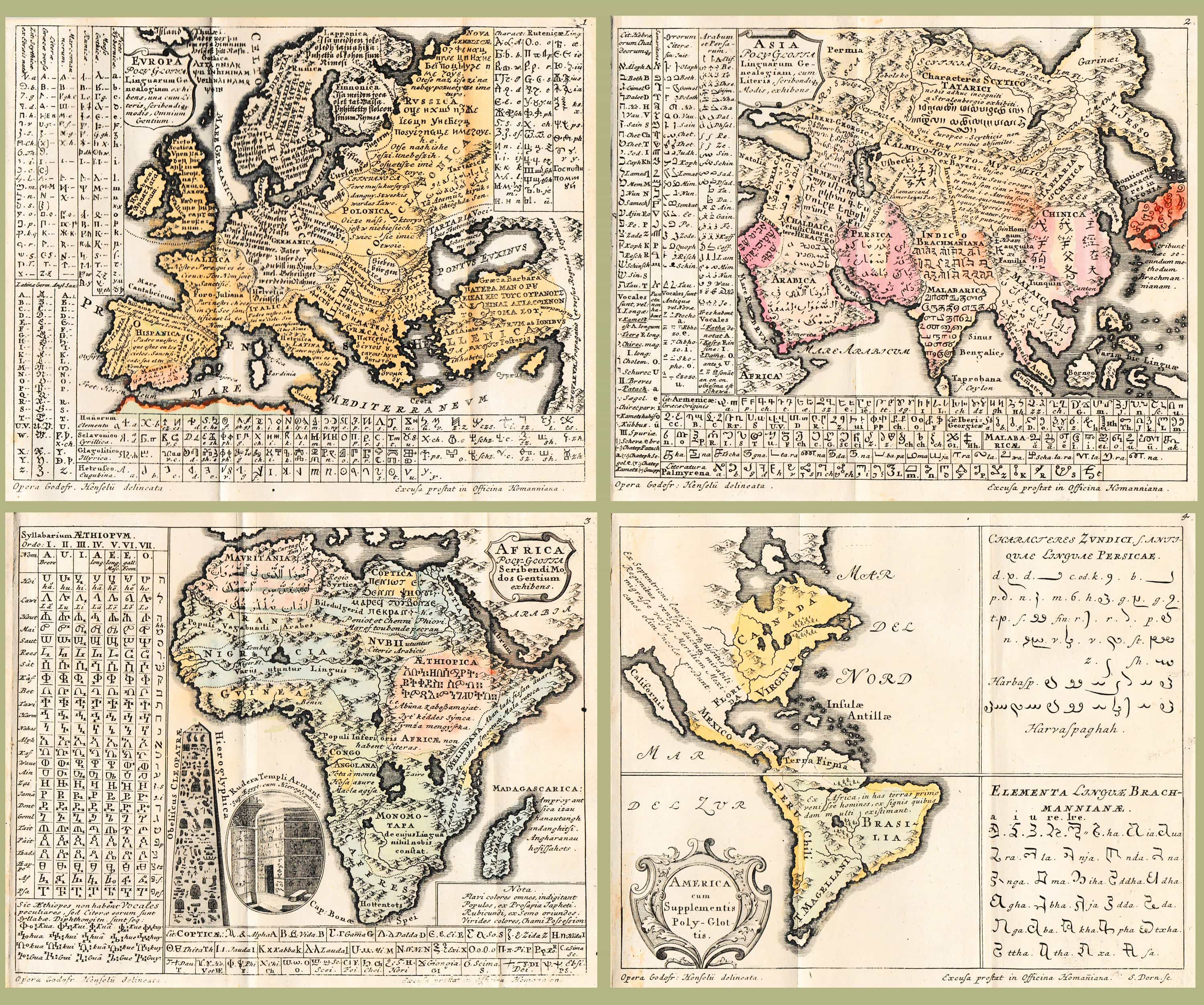 Early attempt to map world languages… no copies in American ...