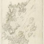18th-century chart of the Maine coast by John Norman