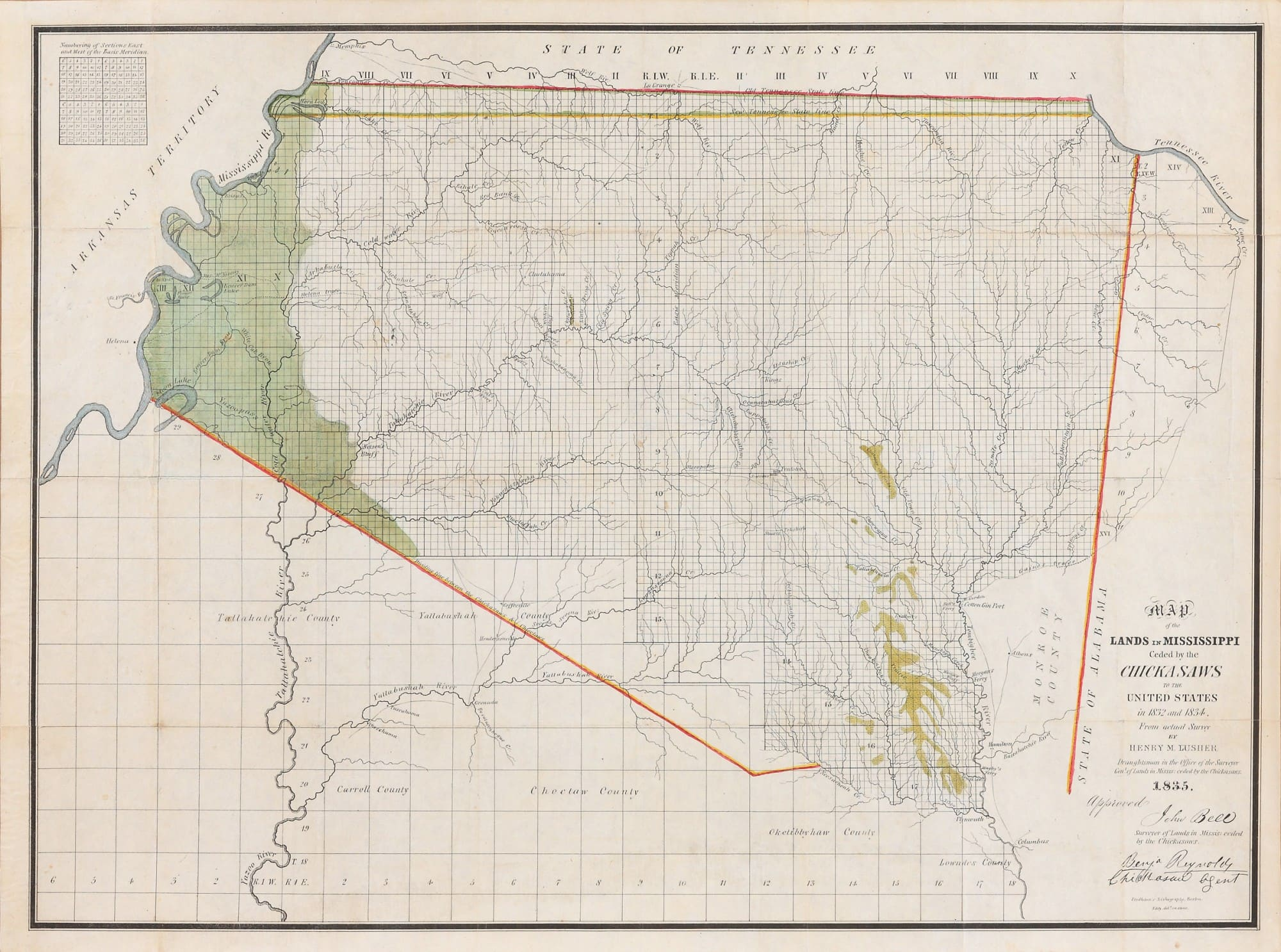 Relating To The Trail Of Tears A Most Important Early - Missisippi map