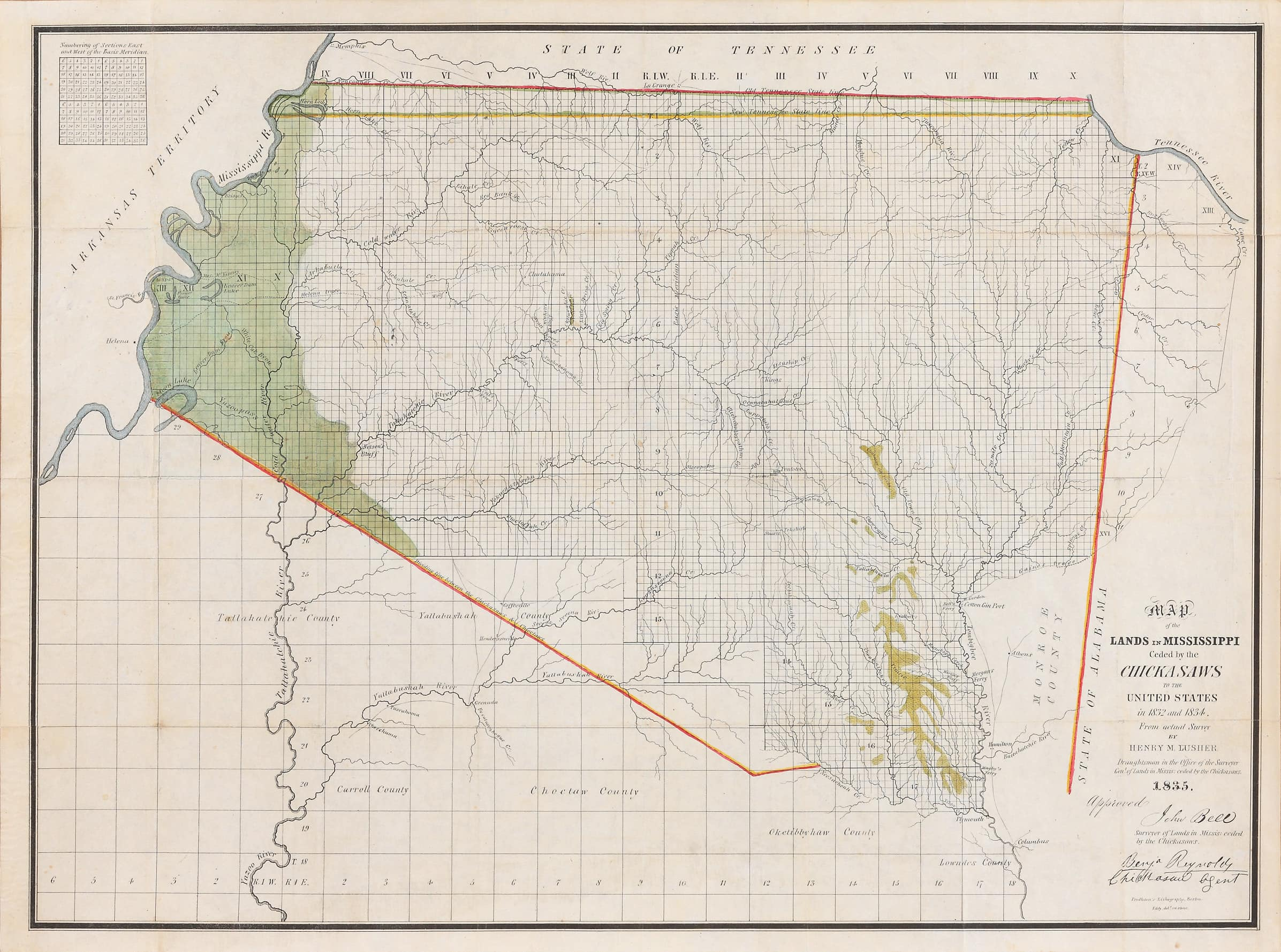 Picture of: Relating To The Trail Of Tears A Most Important Early Mississippi Map Rare Antique Maps