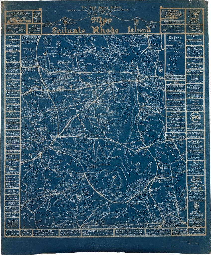 Vintage maps of scituate
