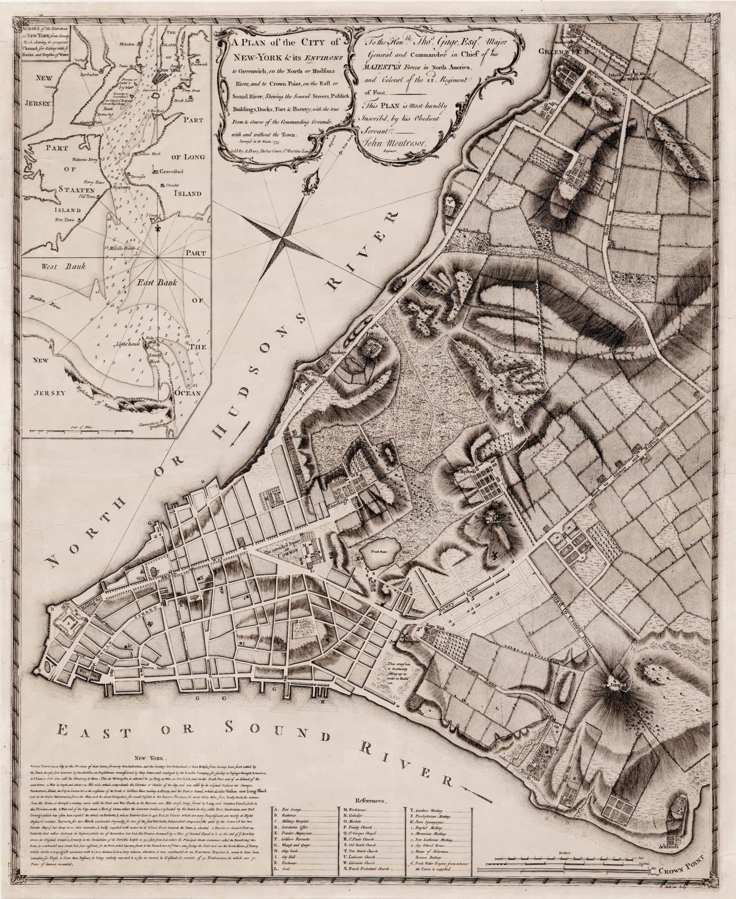 montresors map of manhattan