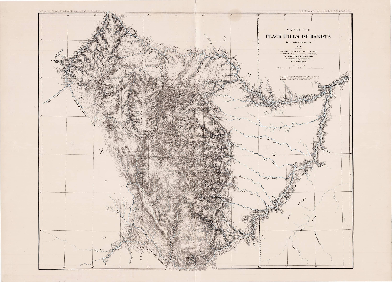 Imposing atlas of the Black Hills of South Dakota  Rare  Antique