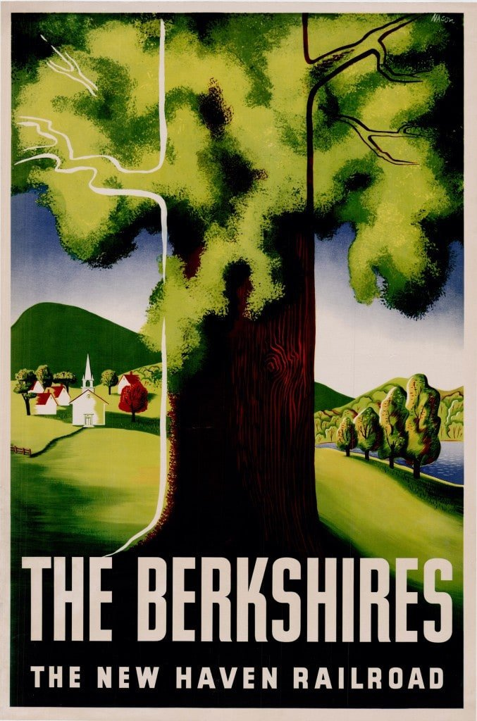 Ben Nason poster promoting travel to the Berkshires