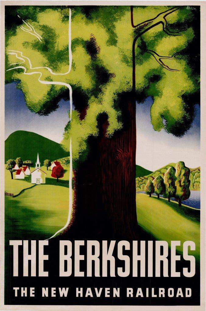 Ben Nason poster promoting travel to the Berkshires